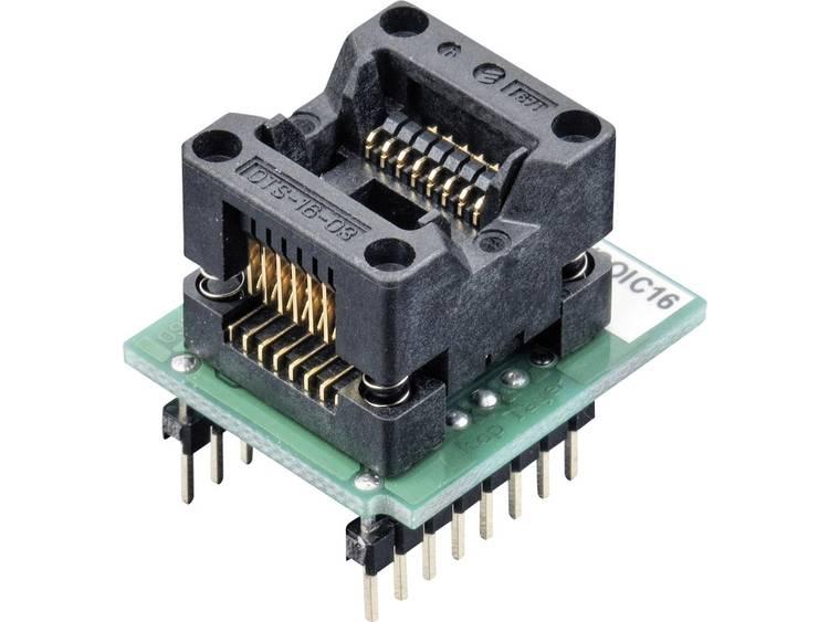 Adapter voor ELNEC-programmeur 70-0074 Elnec 70-0074 Uitvoering DIL 16-SOIC 16 ZIF 150 mil