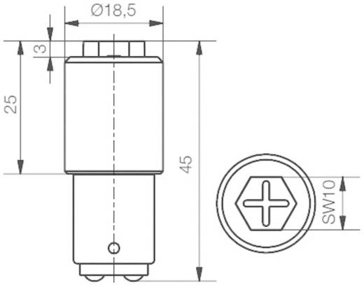 Signal Construct MBRD151268 LED-lamp BA15d Wit 230 V/DC, 230 V/AC 9500 mlm