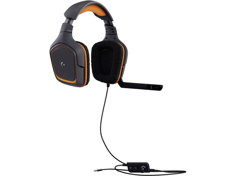 Gaming headset 3.5 mm jackplug Kabelgebonden, Stereo Logitech Gaming G231 Prodigy Over Ear Zwart/oranje