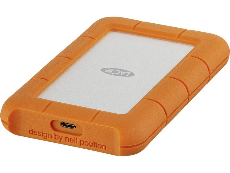 LaCie Rugged Mobile Drive 1 TB Externe harde schijf (2.5 inch) USB-C Zilver, Oranje