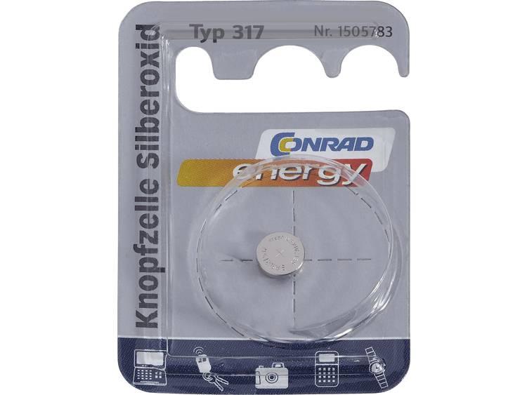 317 Knoopcel Zilveroxide 1.55 V 10.5 mAh Conrad energy SR62 1 stuk(s)