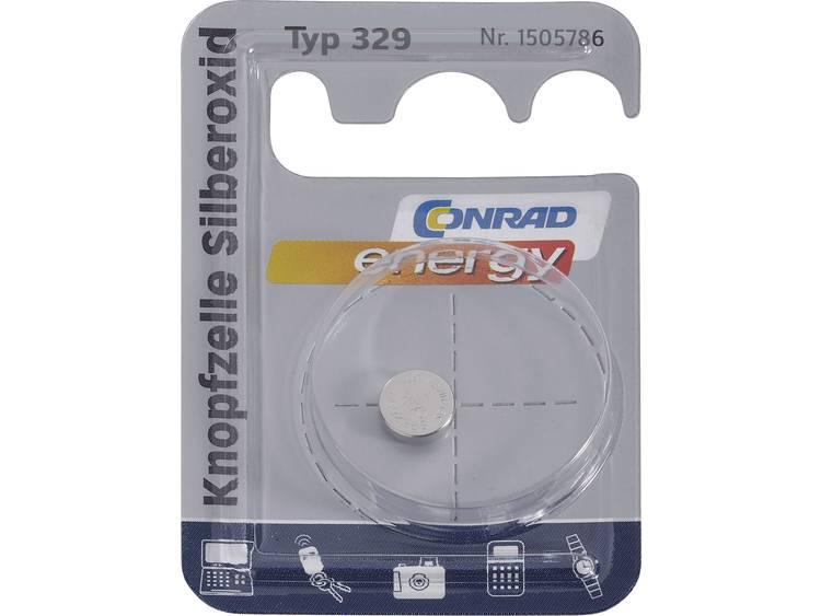 329 Knoopcel Zilveroxide 1.55 V 37 mAh Conrad energy SR731 1 stuk(s)