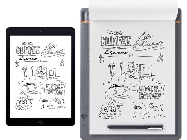 Elektronisch notitieboek Wacom Bamboo Slate Large Live-overdracht Grijs