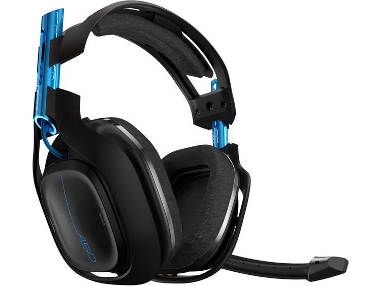 Gaming headset Draadloos Astro A50 Over Ear Zwart/blauw