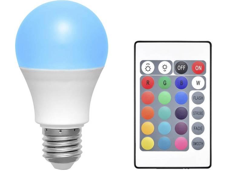 Basetech LED-lamp Energielabel: A (A++ - E) E27 Peer 6 W RGBW (Ã x l) 60 mm x 108 mm Colorchanging, Dimbaar, incl. afstandsbediening 1 stuks