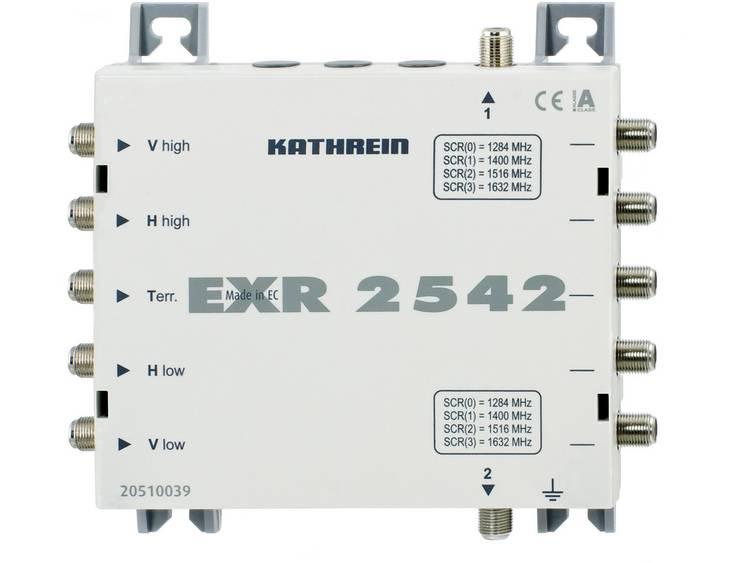 Kathrein EXR 2542 Satelliet multiswitch cascade unicable Ingangen (satelliet): 5 (4 satelliet / 1 terrestrisch) Aantal gebruikers: 8