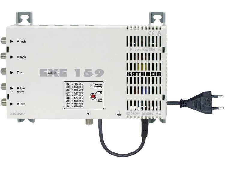 Kathrein EXE 159 Satelliet multiswitch cascade unicable Ingangen (satelliet): 5 (4 satelliet / 1 terrestrisch) Aantal gebruikers: 9