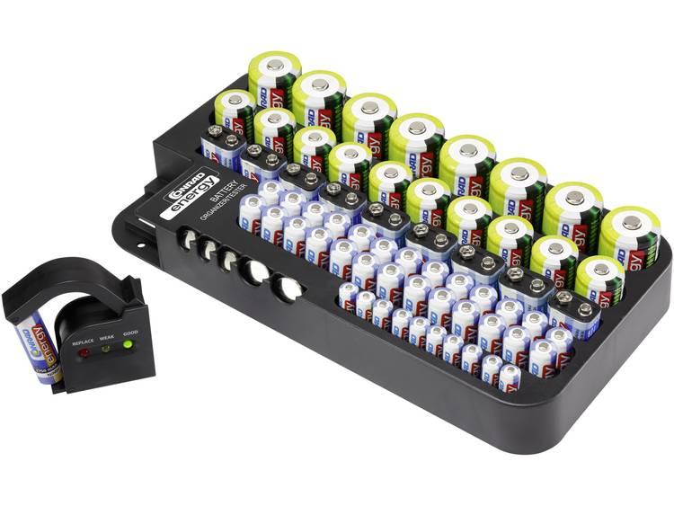 Conrad energy Box Multi inkl. Tester Batterijbox Aantal cellen: 72 AAA (potlood), AA (penlite), C (baby), D (mono), 9V (blok), CR927, CR2032, LR44 (l x b x h)