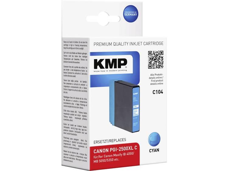 KMP Inkt vervangt Canon PGI-2500XL C Compatibel Cyaan C104 1565,0003