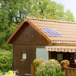 Kleine zonne-energie-installatie 20 W met 8Ah-accu