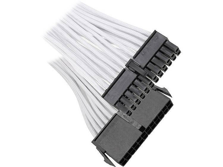 Verlengkabel Bitfenix Stroom [1x ATX stroomstekker 24-polig - 1x ATX stroombus 24-polig] 30 cm Wit/zwart