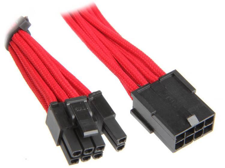 Verlengkabel Bitfenix Stroom [1x PCI-E stekker 8-polig (6+2) - 1x PCI-E bus 8-polig] 45 cm Rood, Zwart