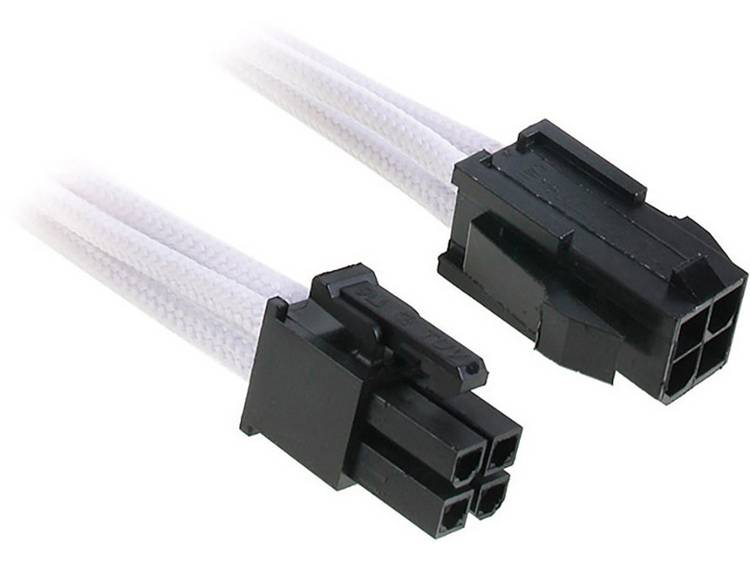 Verlengkabel Bitfenix Stroom [1x ATX stroomstekker 4-polig - 1x ATX stroombus 4-polig] 45 cm Wit, Zwart