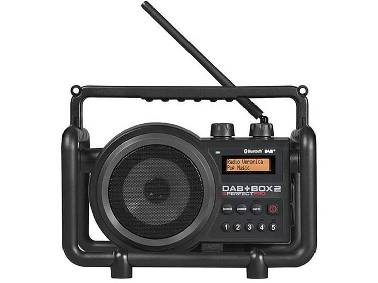 PerfectPro DAB+ Box 2 Bouwradio DAB+, FM AUX, Bluetooth Spatwaterbestendig, Stof