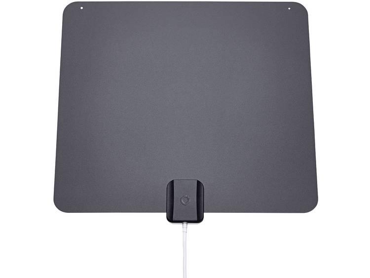 Oehlbach XXL® Razor Flat Actieve DVB-T/T2 platte antenne Binnen Zwart/grijs