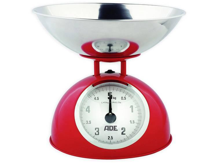 ADE KM 861 Luisa Keukenweegschaal Analoog Weegbereik (max.): 5 kg Rood