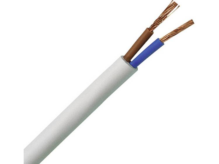 Kopp 151525003 Geïsoleerde kabel H03VV-F 2 x 0.75 mm² Wit 25 m