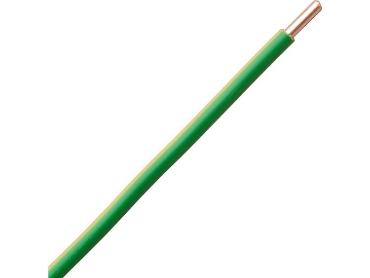 Kopp 154905004 Draad H07V-U 1 x 10 mm² Groen-geel 5 m