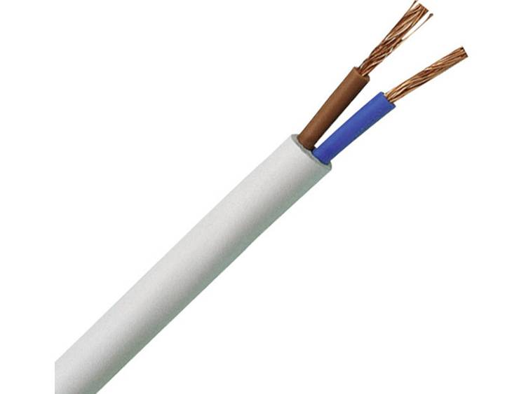 Kopp 151510843 Geïsoleerde kabel H03VV-F 2 x 0.75 mm² Wit 10 m