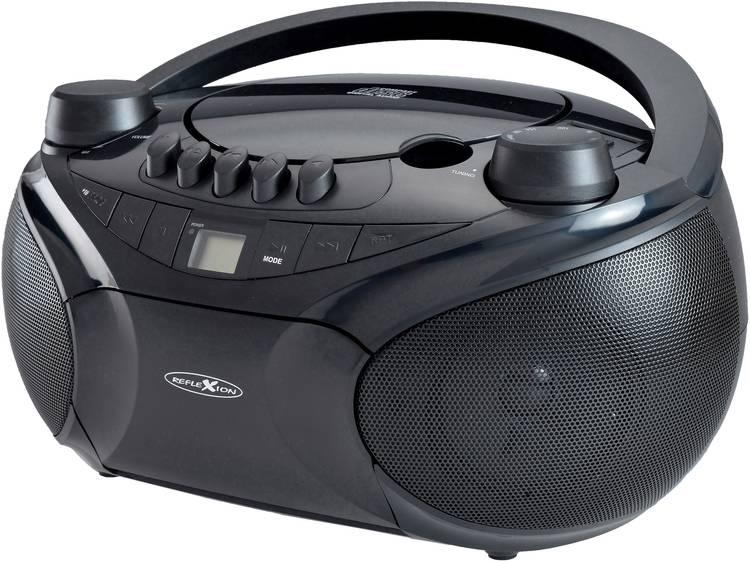 Reflexion RCR4655 FM CD radio AUX CD Cassette SD USB FM Zwart