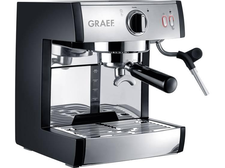 Espressomachine Graef Pivalla EU RVS 1410 W met melkopschuimer - Prijsvergelijk