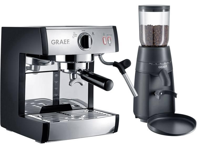 Espressomachine Graef Pivalla EUSET RVS 1410 W met melkopschuimer - Prijsvergelijk