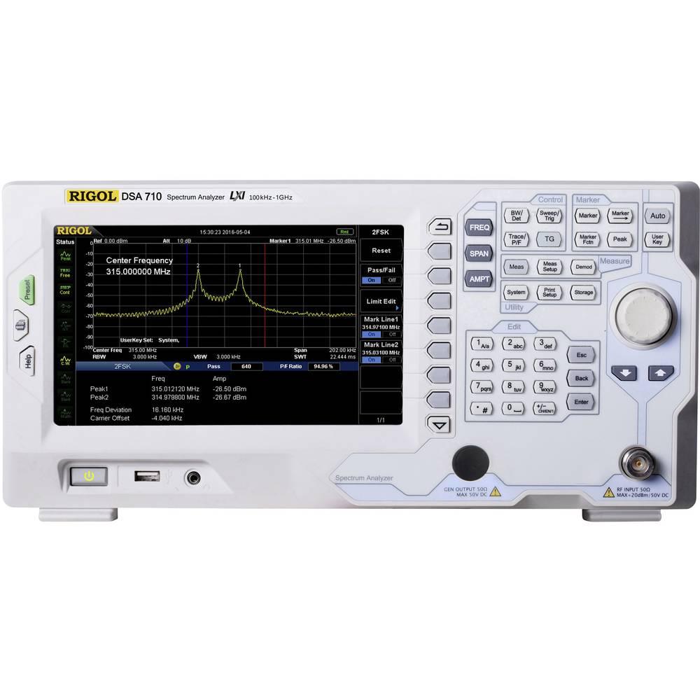 Rigol DSA705 (ej certifierad kalibrering)