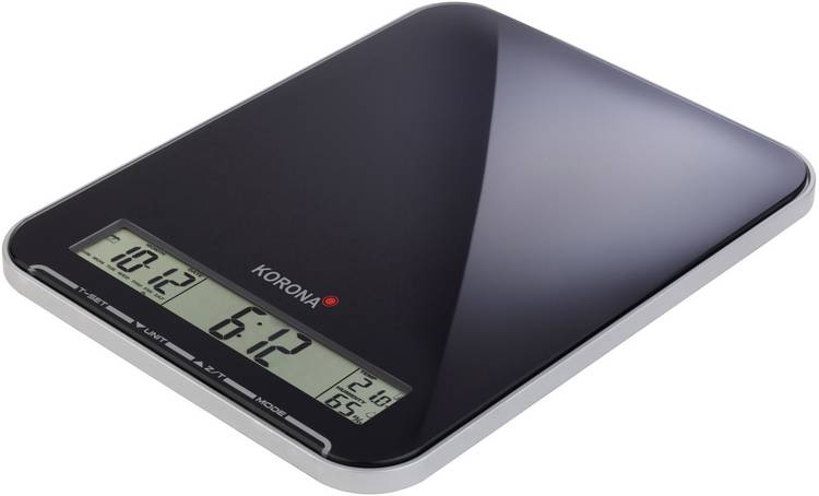 Image of Keukenweegschaal Digitaal Korona Kastella Weegbereik (max.)=10 kg Zwart