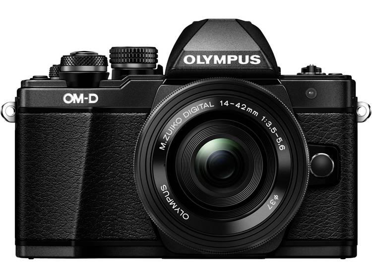Systeemcamera Olympus EM-10 Mark II Incl. M 14-42 mm + 40-150 mm lenzen 16.1 Mpix Zwart Draai- en zw