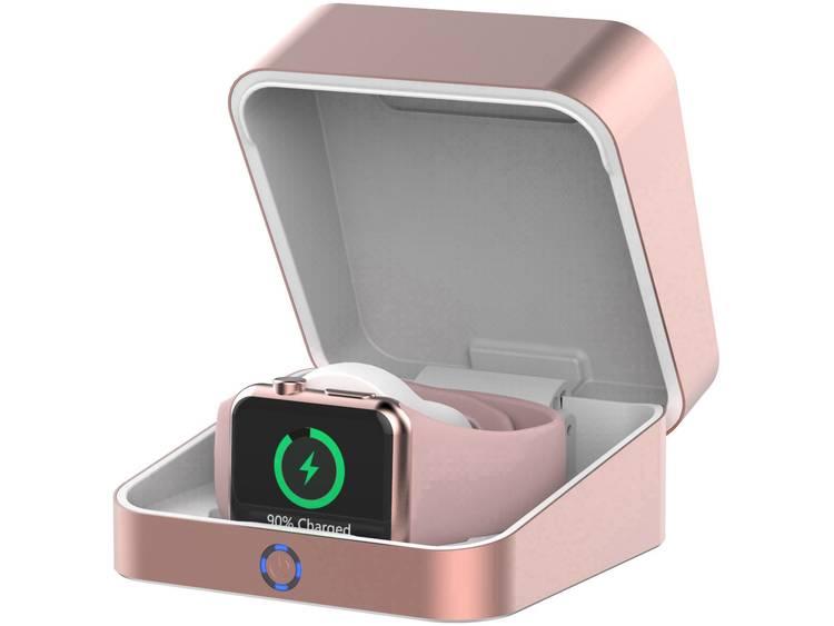 ozzie iWatch Box Inductie powerbank 1500 mA 3000 mAh Uitgangen Qi-standaard, USB Rose gold