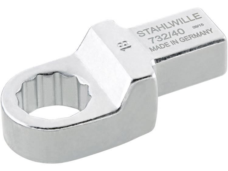 Stahlwille 58224018 Ring insteekgereedschap 18 mm voor 14x18 mm