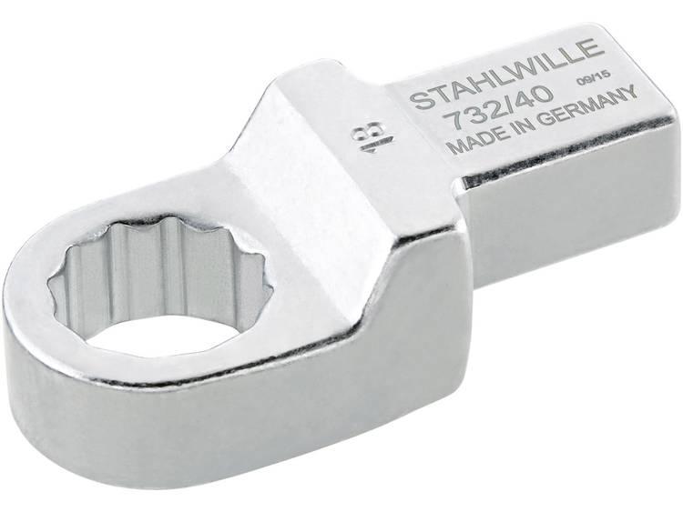 Stahlwille 58224019 Ring insteekgereedschap 19 mm voor 14x18 mm