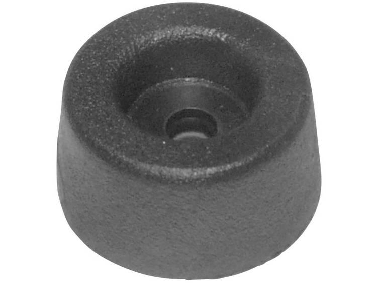Apparaatvoet Verschroefbaar Zwart (Ã x h) 17.5 mm x 9 mm 1 stuks