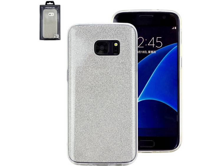 Perlecom GSM backcover Geschikt voor model GSMs Samsung Galaxy S7 Edge Zilver
