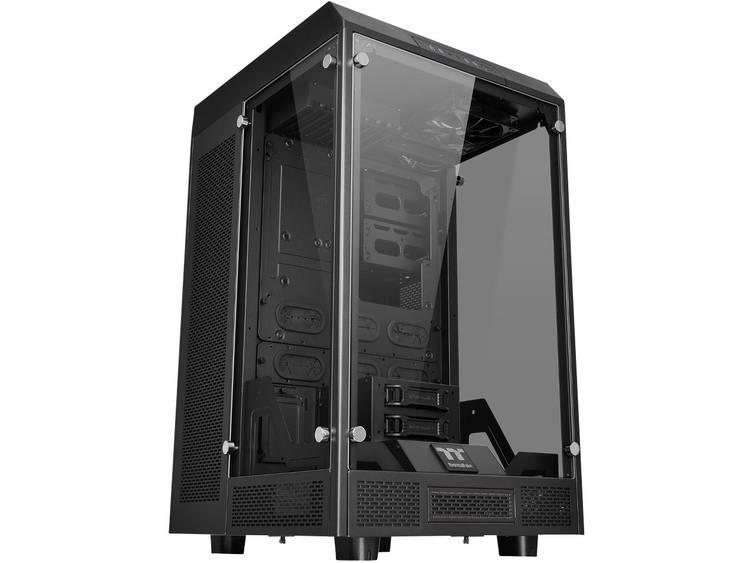 Full Tower PC-behuizing Thermaltake The Tower 900 Zwart 2 voorgeïnstalleerde LED-ventilators, LCS-compatibel, Zijvenster, Harde schijf installatie zonder
