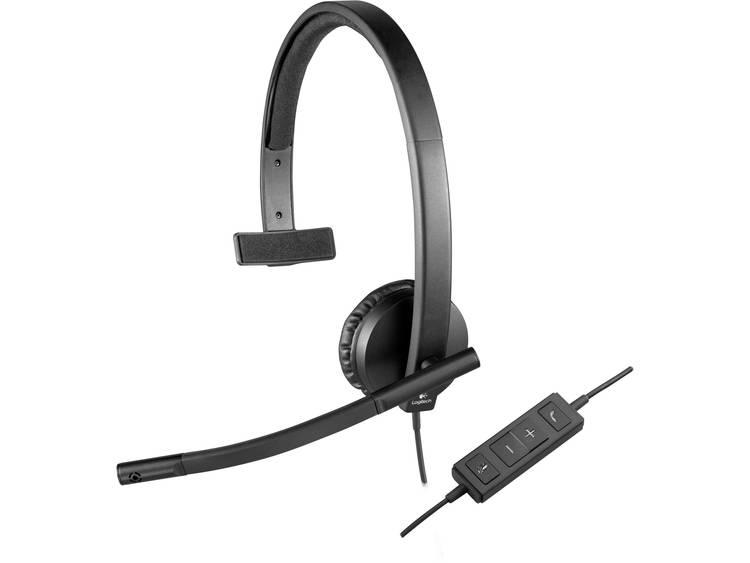 Logitech H570e PC-headset USB Mono, Kabelgebonden Over Ear Zwart