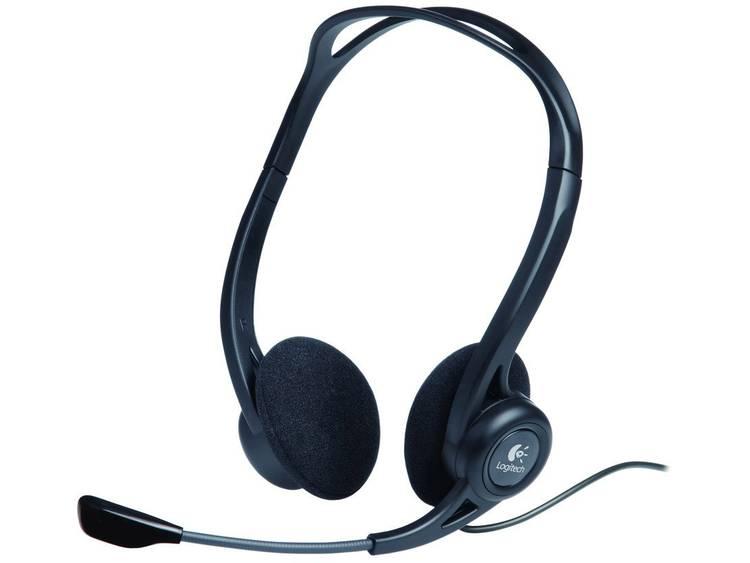 Logitech PC 960 PC-headset USB Stereo On Ear Zwart