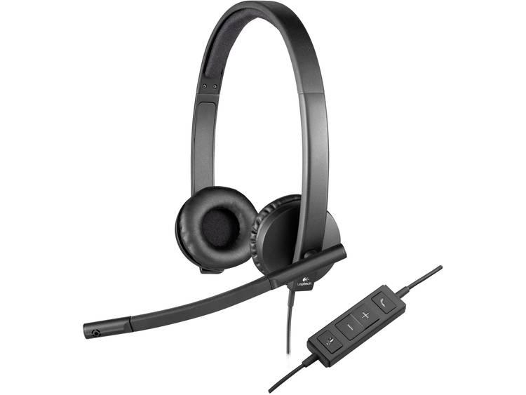 Logitech H570e PC-headset USB Stereo, Kabelgebonden Over Ear Zwart