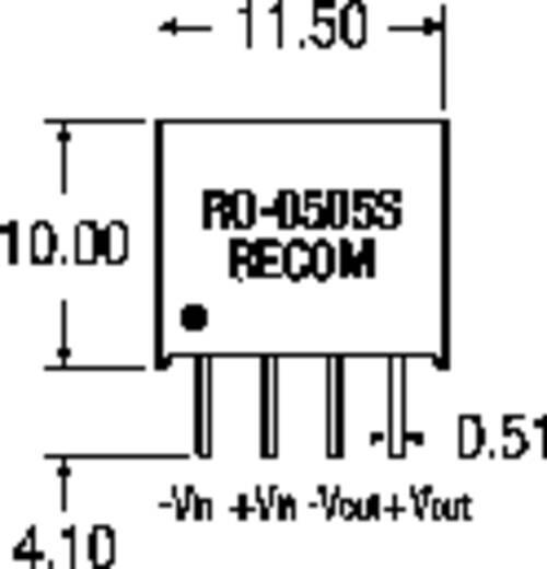 RECOM RO-1205S/P DC/DC-converter, print 12 V/DC 5 V/DC 200 mA 1 W Aantal uitgangen: 1 x