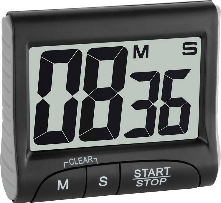 Timer TFA 38.2021.01 Zwart Digitaal