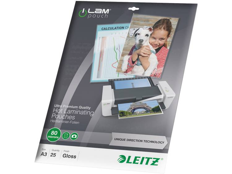 Lamineerfolie Leitz DIN A3 80 micron glanzend 25 stuks