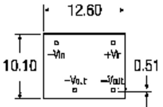 RECOM RN-1205S/P DC/DC-converter, print 12 V/DC 5 V/DC 250 mA 1.25 W Aantal uitgangen: 1 x