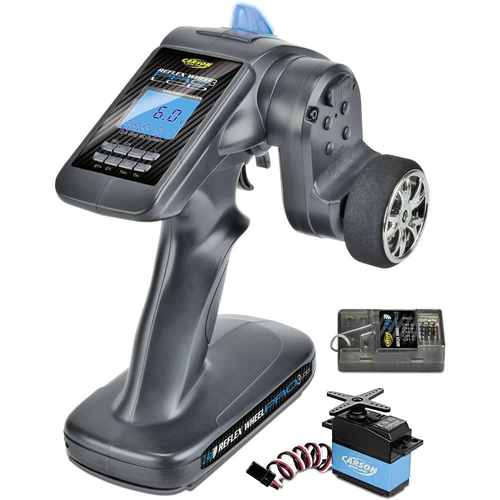 Sändare med pistolgrep Carson Modellsport Reflex Wheel Pro III LCD Marine 2,4 GHz Antal kanaler: 3 inkl. mottagare