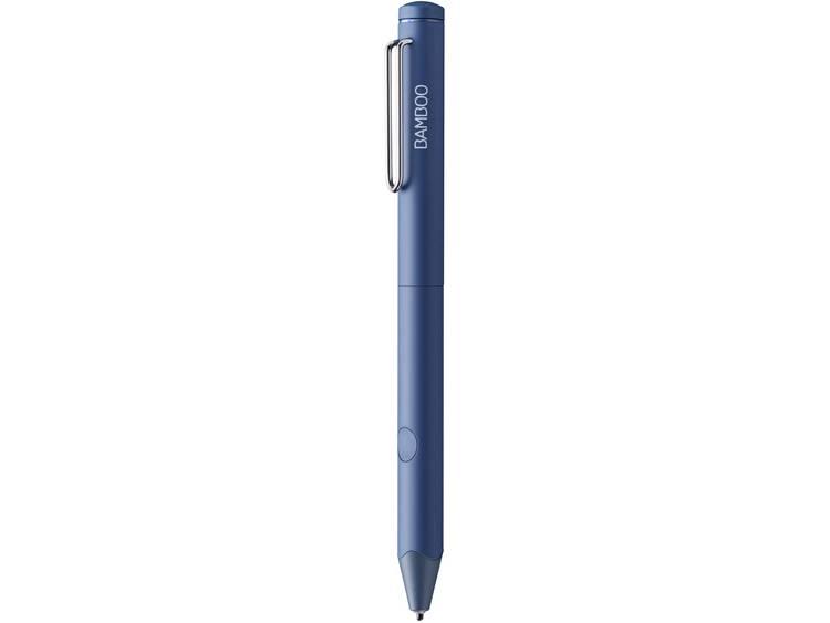 Touchpen Wacom Bamboo Fineline 3 Bluetooth, Herlaadbaar, Met drukgevoelige punt Blauw