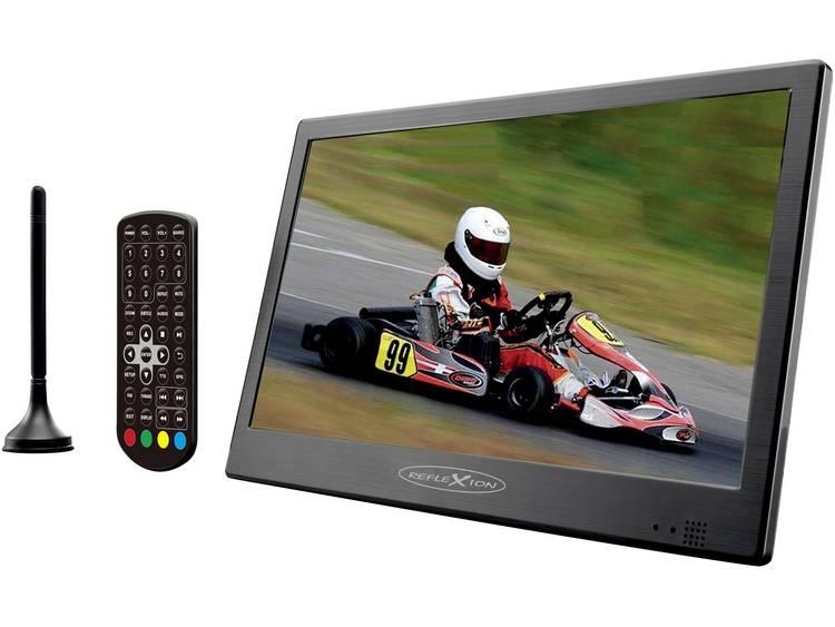 Reflexion LED1017T2HD Draagbare TV 25.4 cm 10 inch Werkt op een accu, Camping-TV, incl. 12 V auto-aa