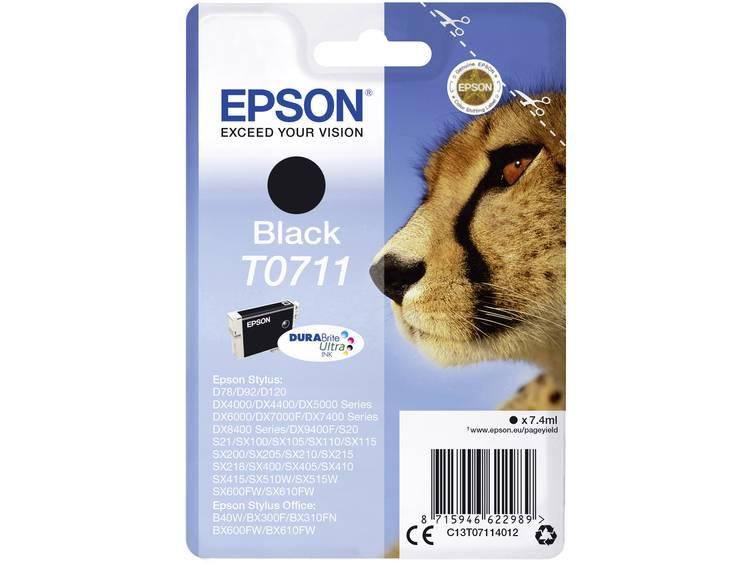 Epson Inkt T0711 Origineel Zwart C13T07114012