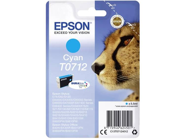 Epson Inkt T0712 Origineel Cyaan C13T07124012