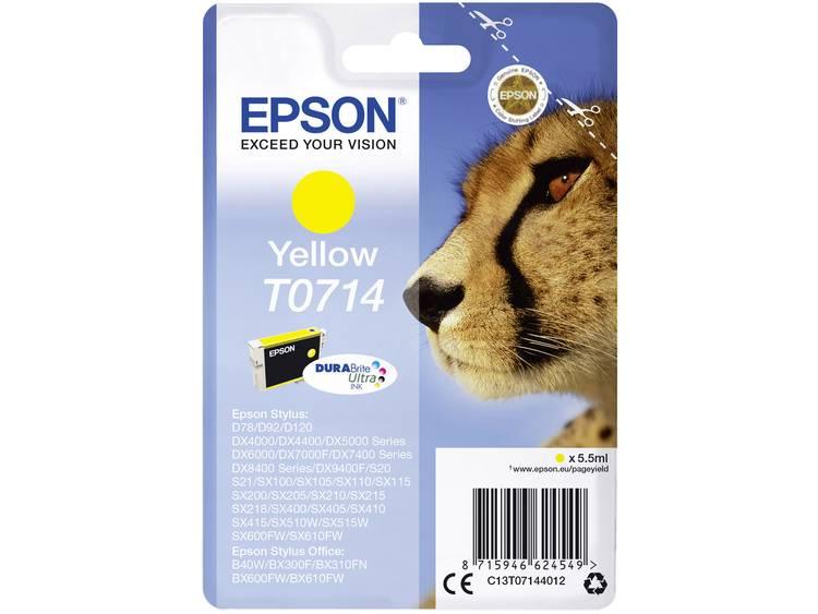 Epson Inkt T0714 Origineel Geel C13T07144012