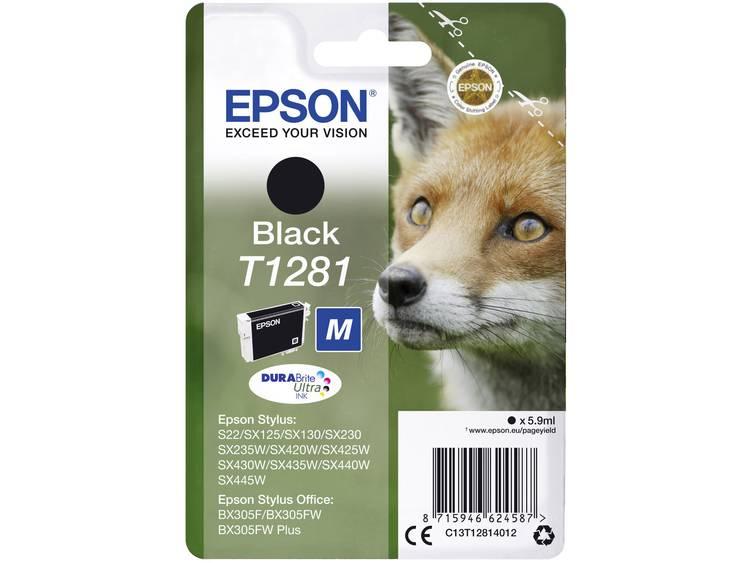 Epson Inkt T1281 Origineel Zwart C13T12814012
