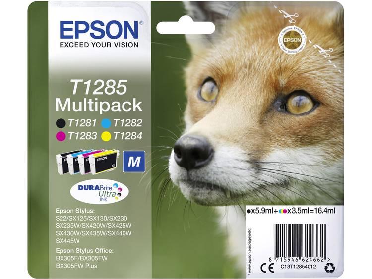 Epson Inkt T1285 Origineel Combipack Zwart, Cyaan, Magenta, Geel C13T12854012